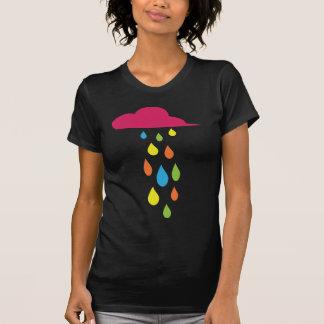 Camisa brillante de las gotas de agua de la