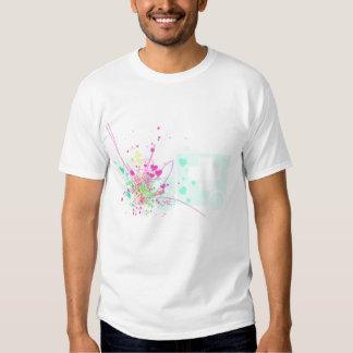 camisa brillante del grundge de la salpicadura de