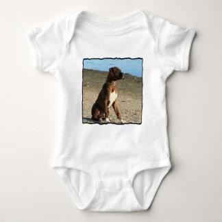 Camisa Brindle del bebé del perro del boxeador
