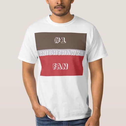 Camisa Brown de la fan del número 1, plata, y rojo