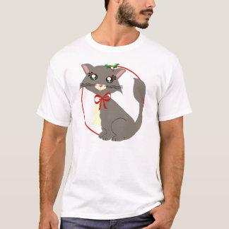 Camisa brumosa del acebo del gatito de Toon