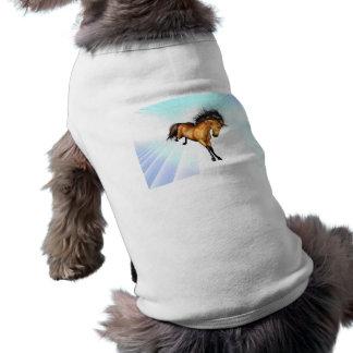 Camisa Bucking del mascota del unicornio Camiseta De Perro