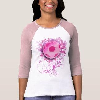 Camisa cabida fútbol floral del Grunge de las