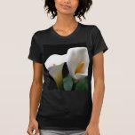 Camisa cabida negro blanco de las señoras de la