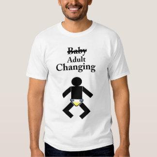 Camisa cambiante de la tabla del bebé adulto del