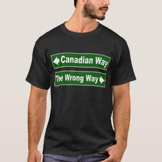Camisa canadiense del clan de la placa de calle de