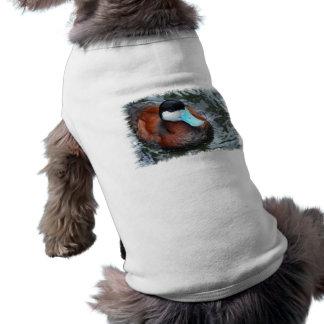 Camisa cargada en cuenta azul del mascota del pato camisas de mascota