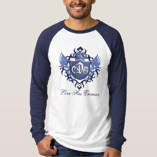Camisa CDO-Escudo-Larga del Raglán-Béisbol de la