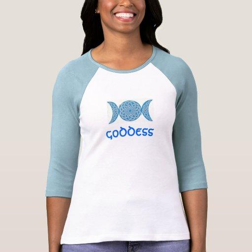 Camisa céltica de la diosa del nudo (azul)