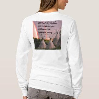 Camisa cherokee de la bendición de la manga larga