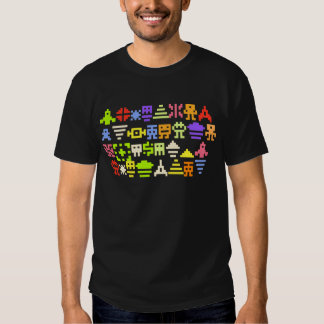 camisa clásica de los pixeles de la arcada 8bit