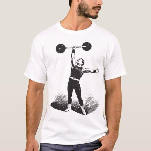 Camisa clásica del Weightlifter del hombre fuerte