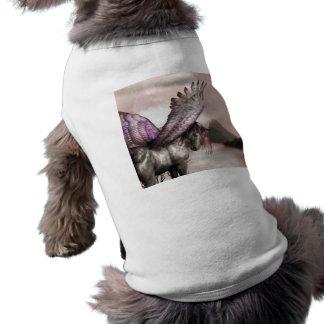Camisa coa alas del mascota de Pegaso Camisetas Mascota