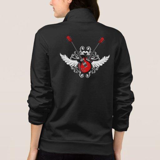 Camisa coa alas del rollo de la roca n del vintage