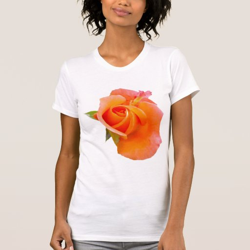 Camisa color de rosa anaranjada
