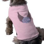 Camisa color de rosa divina del perro playera sin mangas para perro