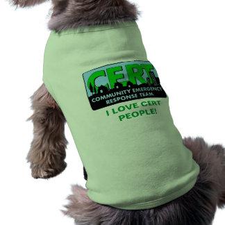 Camisa-colores del perro del CERT Playera Sin Mangas Para Perro