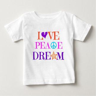 Camisa colorida del niño del sueño de la paz del