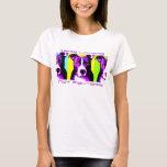 Camisa colorida del pitbull de los combatientes de