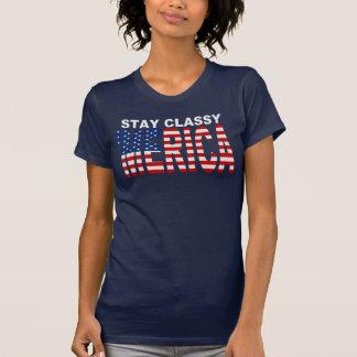 Camisa con clase de la bandera de MERICA E.E.U.U.