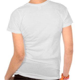 Camisa con cuello de pico del desván de las mujere