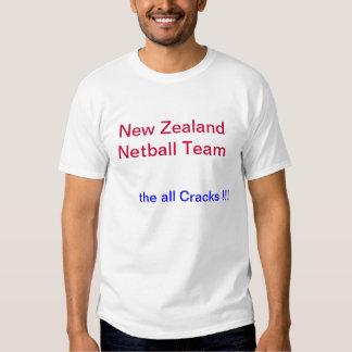 Camisa con el equipo del Netball de Nueva Zelanda