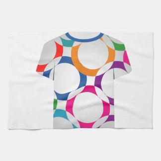 Camisa con los anillos del fractal toalla de cocina