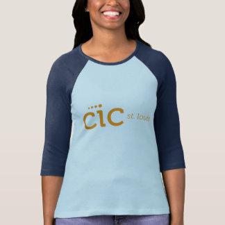 Camisa con mangas de las mujeres del CIC la 3/4