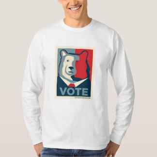 Camisa con mangas de MensLong del VOTO