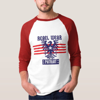 camisa con mangas del patriota 3/4 de los hombres