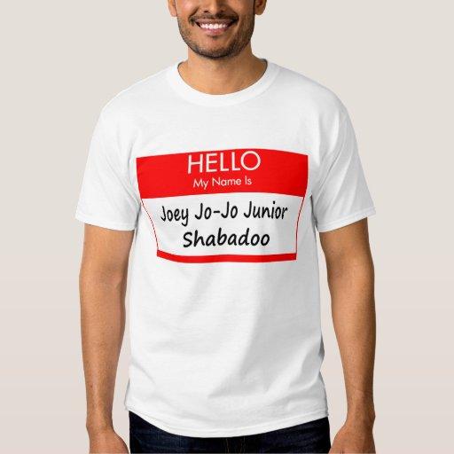 """Camisa conocida de la etiqueta de """"Joey Jo-Jo"""""""