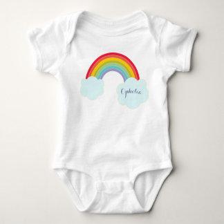Camisa conocida infantil del arco iris retro