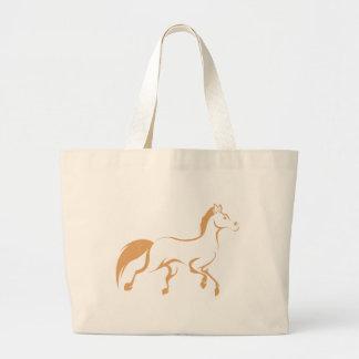 Camisa corriente fresca del logotipo del caballo bolsa tela grande
