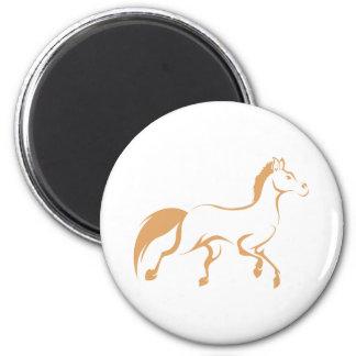 Camisa corriente fresca del logotipo del caballo imán redondo 5 cm