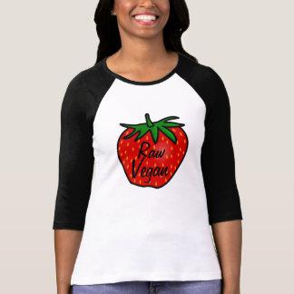 Camisa cruda de la fresa del vegano
