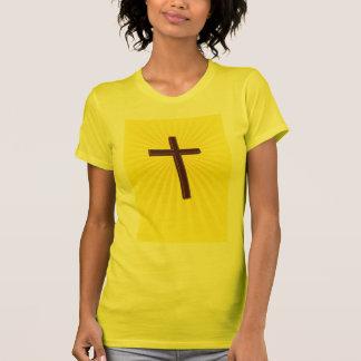 Camisa cruzada cristiana de las señoras