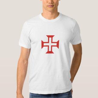 Camisa cruzada de Templar de los caballeros