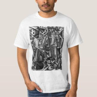 Camisa cubista abstracta moderna de la pintura