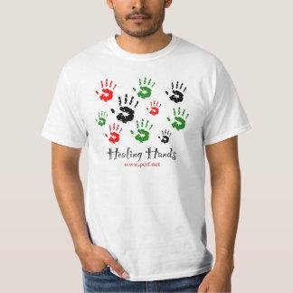 Camisa curativa de las manos