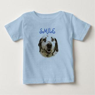 Camisa dálmata de la sonrisa para los muchachos