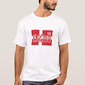 Camisa danesa del logotipo de la bandera de