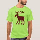 Camisa de 8 del pedazo del navidad alces del