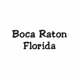 ¡Camisa de Boca Raton la Florida FL - personalizab Polo