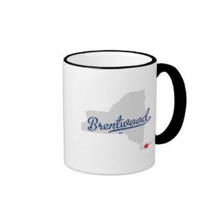 Camisa de Brentwood Nueva York NY Tazas De Café