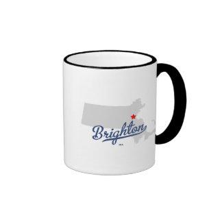 Camisa de Brighton Massachusetts mA Taza De Café