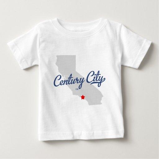 Camisa de California CA de la ciudad del siglo
