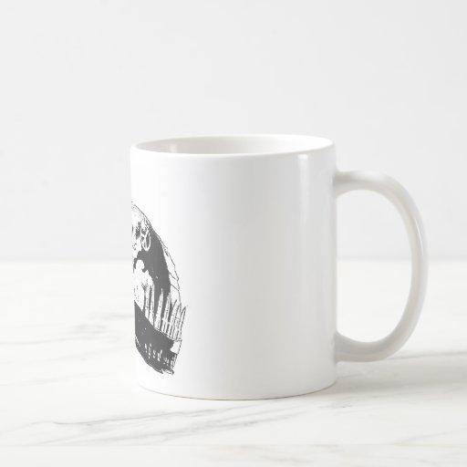 Camisa de campo del hombre del casco de la guerra taza de café