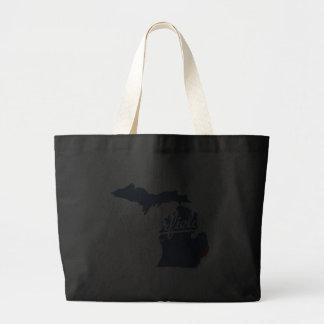 Camisa de Chesterfield Michigan MI Bolsa Tela Grande