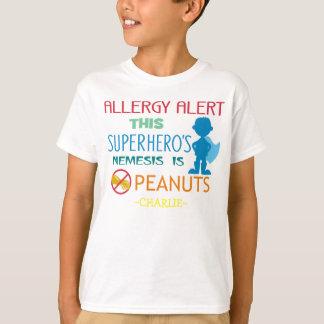 Camisa de chico del super héroe de la alarma de la