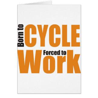 camisa de ciclo tarjeta de felicitación